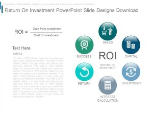 business action plan template return on investment powerpoint slide designs download slide