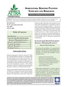 business agreement sample agricultural business planning templates and resources