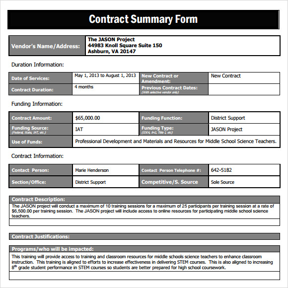 business agreement sample