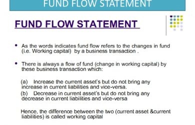 business agreement sample fund flow statement ppt