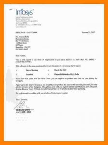 business agreement template infosys offer letter