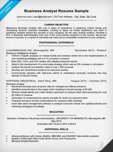 Business Analyst Resume Sample Technical Skills Inventory