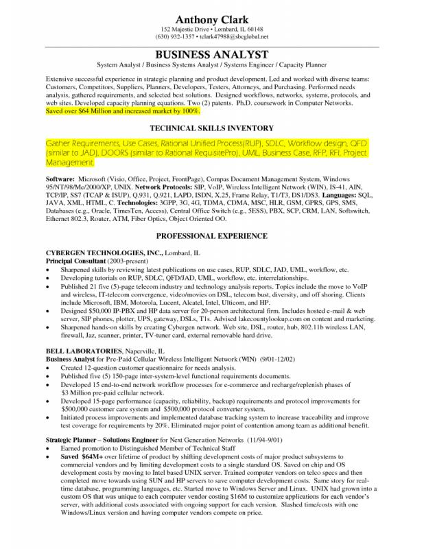 Business Analyst Resume | Template Business