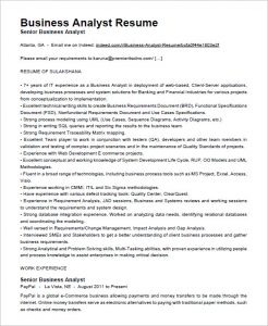 business analyst resumes business analyst resume free download