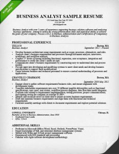 business analyst resumes business analyst resume sample image