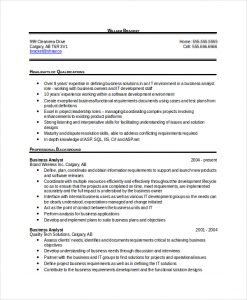 business analyst resumes sample business analyst resume