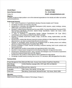 business analyst resumes senior business analyst resume