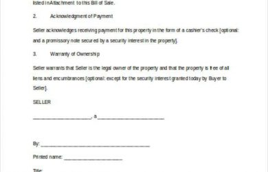 business bill of sale business assets bill of sale form