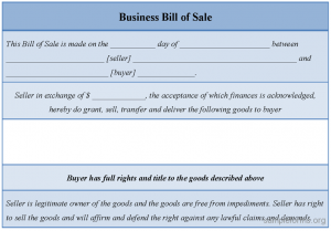 business bill of sale business bill of sale form