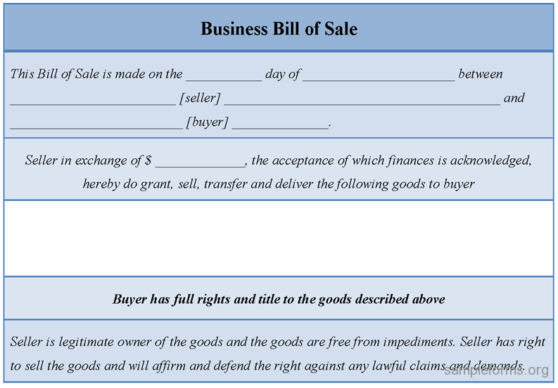 business bill of sale