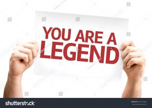 business card blank stock photo you are a legend card isolated on white background