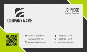 business card format front