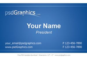business card format blue business card template