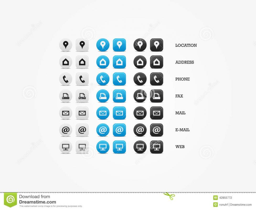Business card icons template business business card icons reheart Choice Image