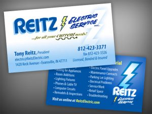 business card services reitz electric business cards