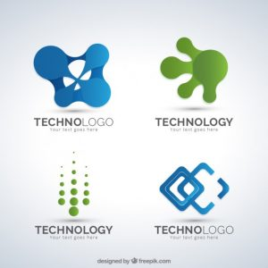 business card template download asbtract shapes technology logos pack