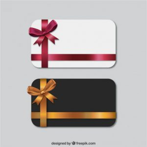 business card template download set of gift cards