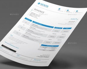business cards format ai and eps invoice template