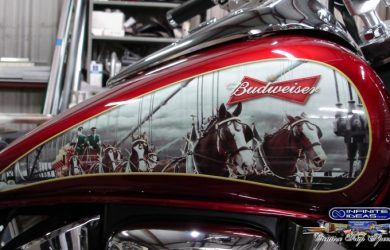 business cards format budweiser bike tank