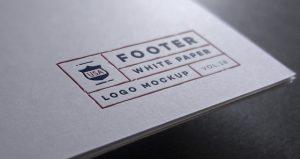 business cards social media footer paper dark white black logo brand mock up vol psd