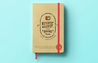 business cards with social media notebook notepad write brand presentation mockup psd