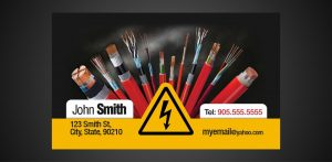 business cards with social media business card electrician x