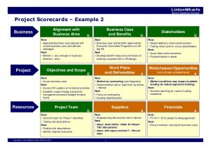 business case analysis example the lintonwharfe nine box project management framework v