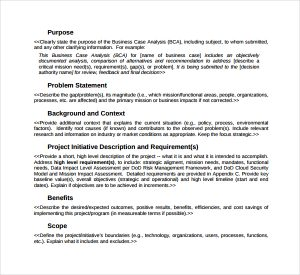 business case study business case analysis template