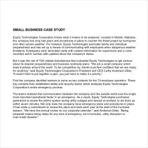 business case study business case study example