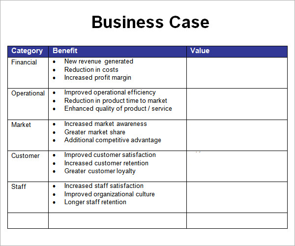 Business case template template business business case template accmission Choice Image