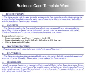 business case template business case template 12