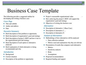business case template business case template 2