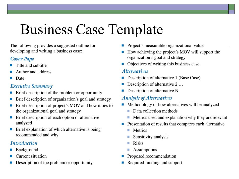 Business case template template business business case template toneelgroepblik Choice Image