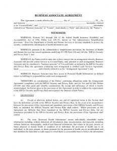 business contract sample sample business associate agreement
