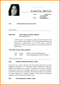 business contract template curriculum vitae english student ffbdfbfc