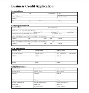 business credit application form business credit application form download