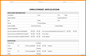 business credit application template sample job application form word document