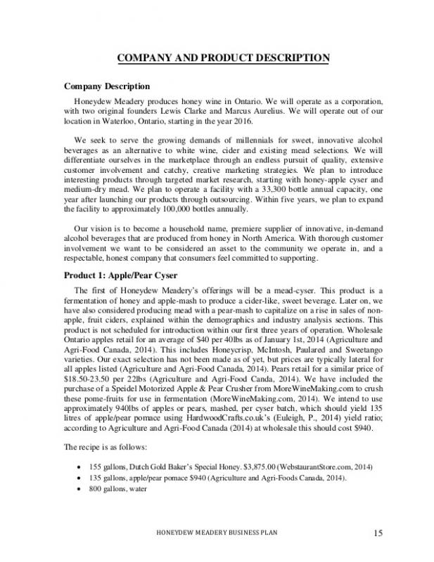 business description example