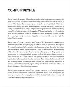 business description example real estate company description example