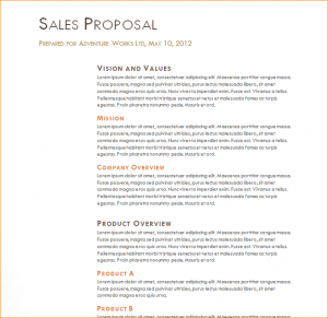 business development plan sales proposal example
