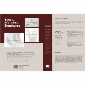 business flyer template single page brochure