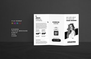 business flyer template tri fold brochure template