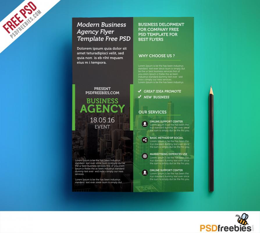 business flyer templates free template business