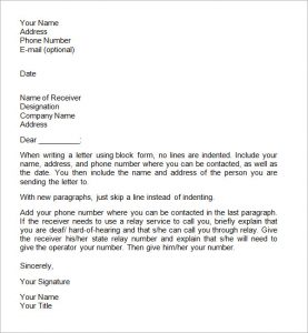 business form letter business letter format