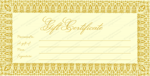 business gift certificate template gold graphy gift certificate template
