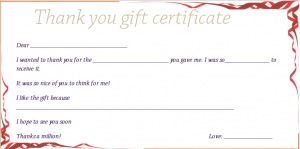 business gift certificate template red ribbons thank you gift certificate template preview