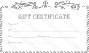 business gift certificate template vintage flower gift certificate template
