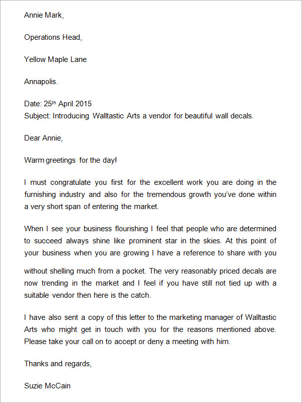 Business introduction letter template business business introduction letter spiritdancerdesigns Gallery