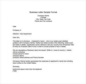 business letter format business letter sample format