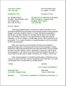 business letter format example business letter format
